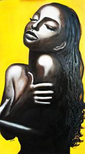 dipinto a olio di Sade adu