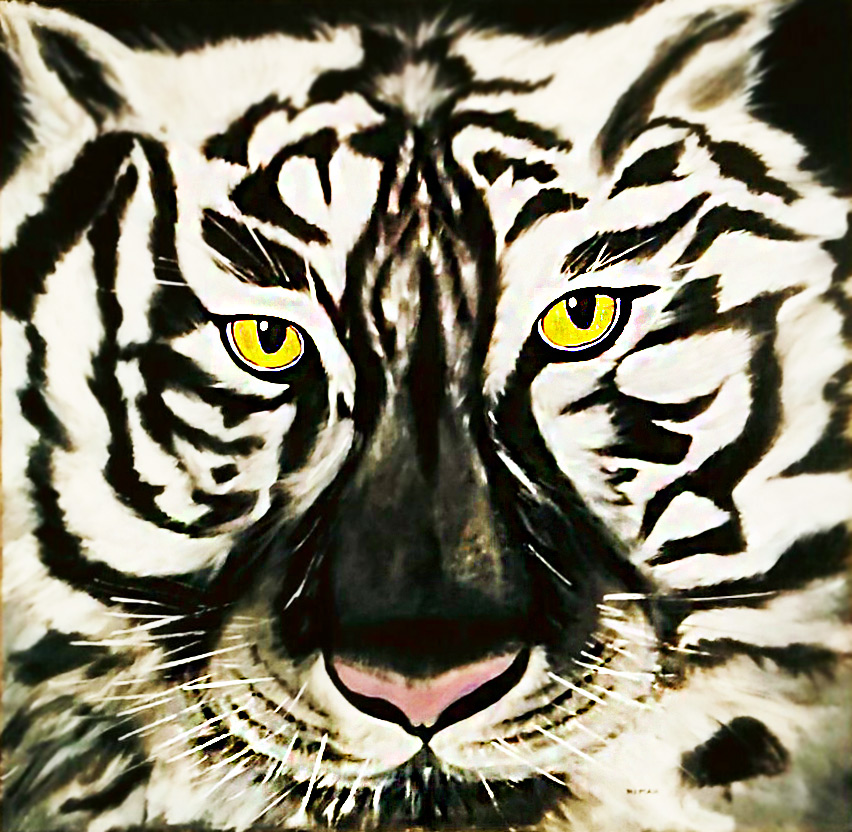 Nimah, dipinto di una tigra bianca