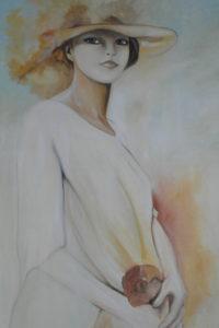 olio su tela ritratto di donna